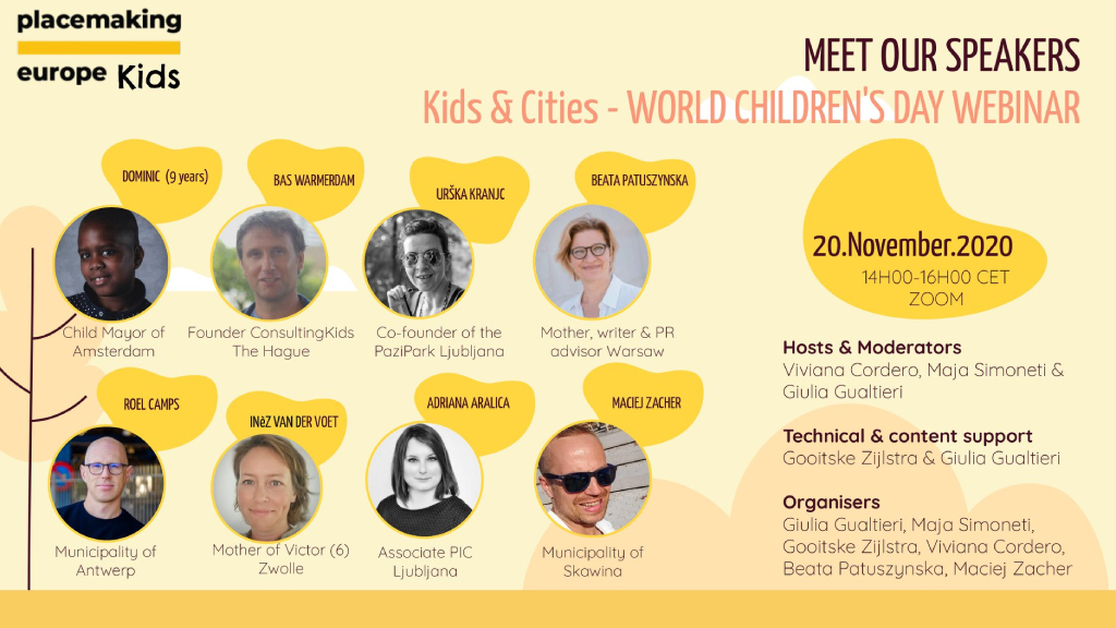 Kids & Cities webinar, 20.11
